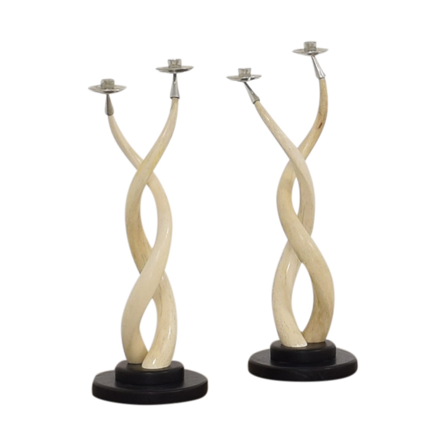 Twisted Horn Candlesticks Decor