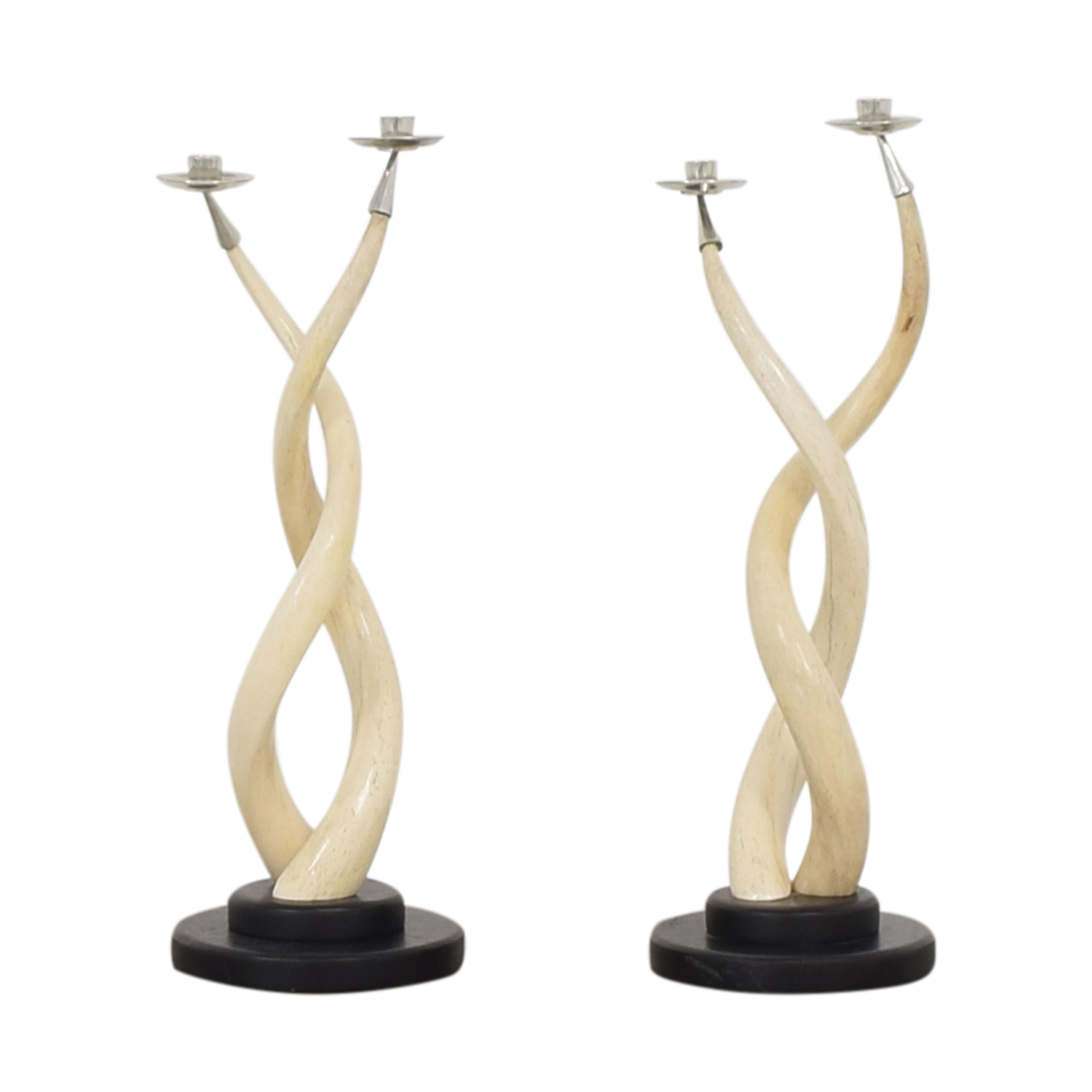 Twisted Horn Candlesticks second hand