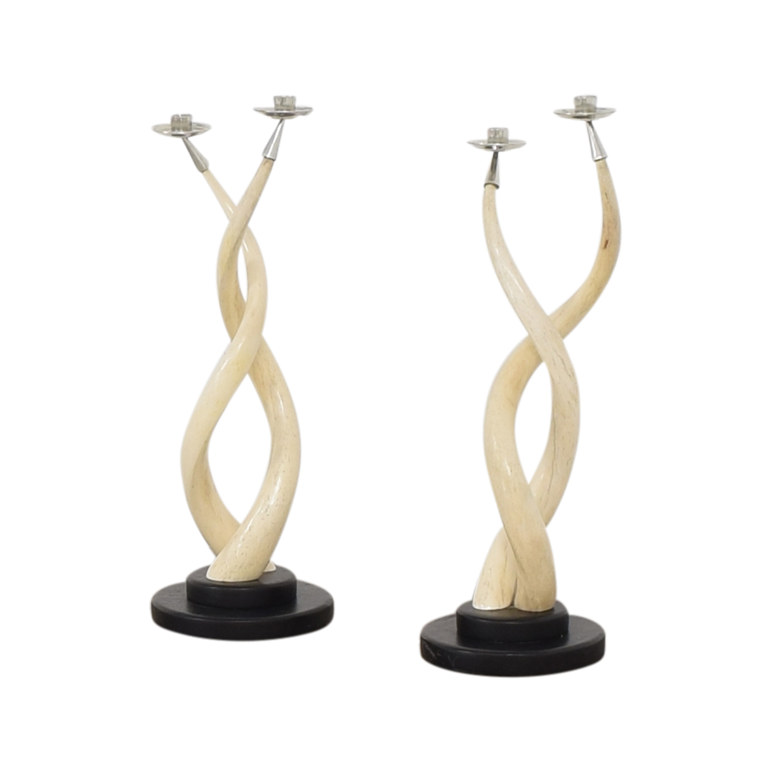 Twisted Horn Candlesticks sale