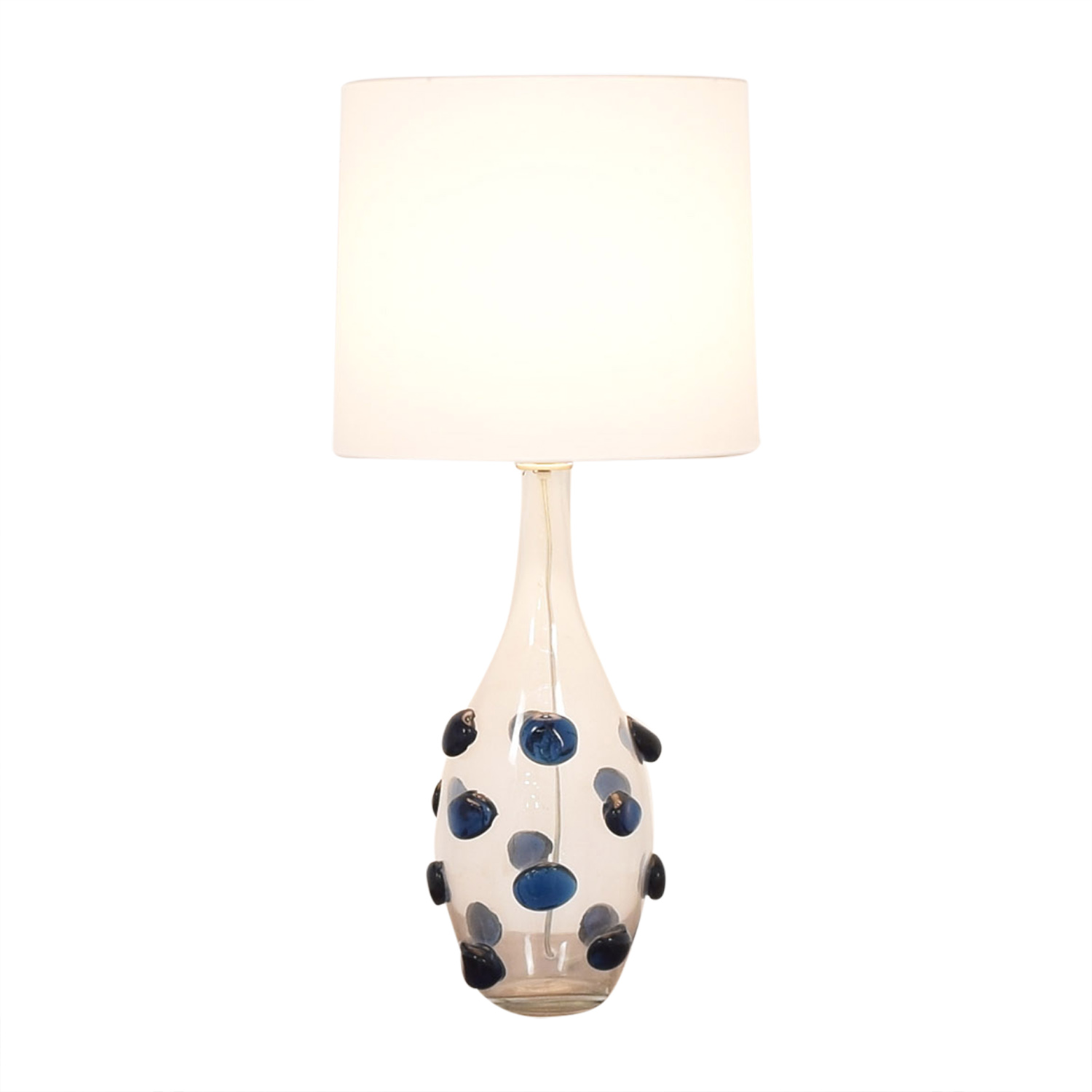 Glass Table Lamp used