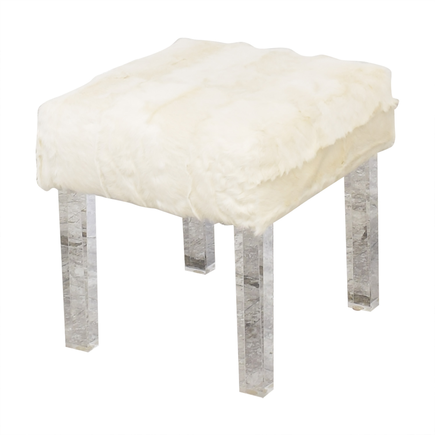 Outpost Original Outpost Original Lucite Bench with Kid Plate Benches
