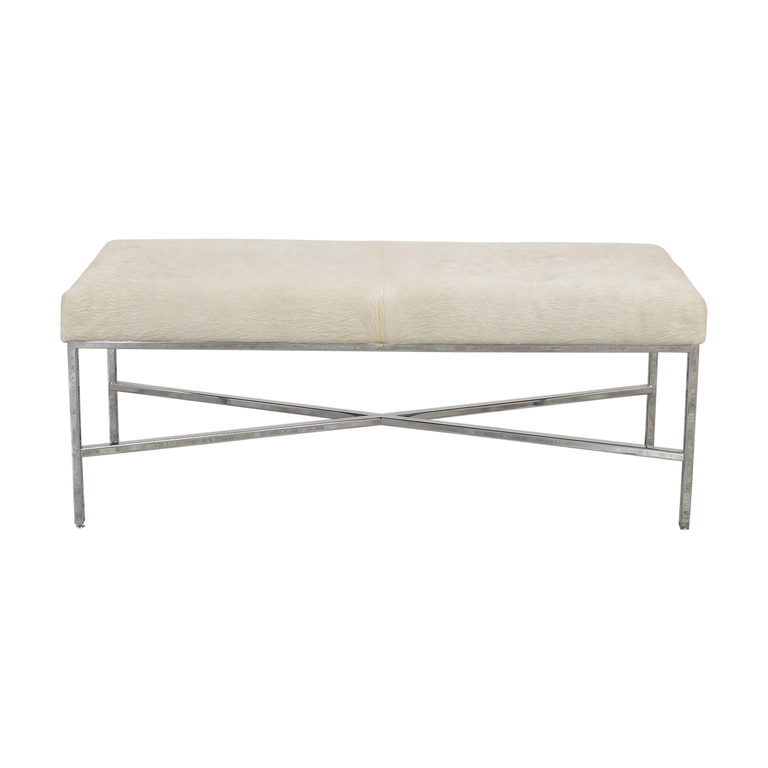 Outpost Original Outpost Original Metal Bench with Cowhide Chairs