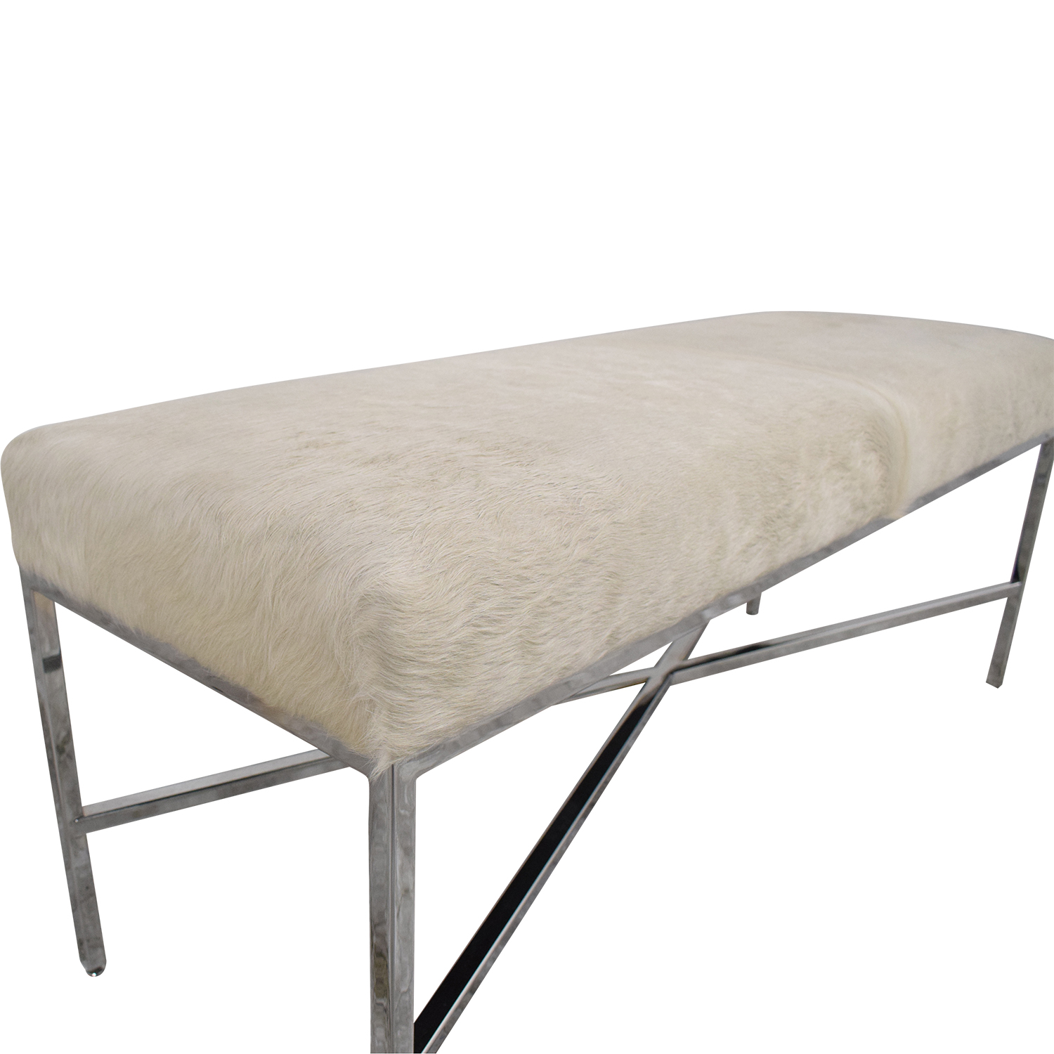 Outpost Original Outpost Original Metal Bench with Cowhide price