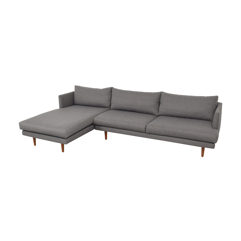 Article Article Burrard Left Sectional Sofa dark grey