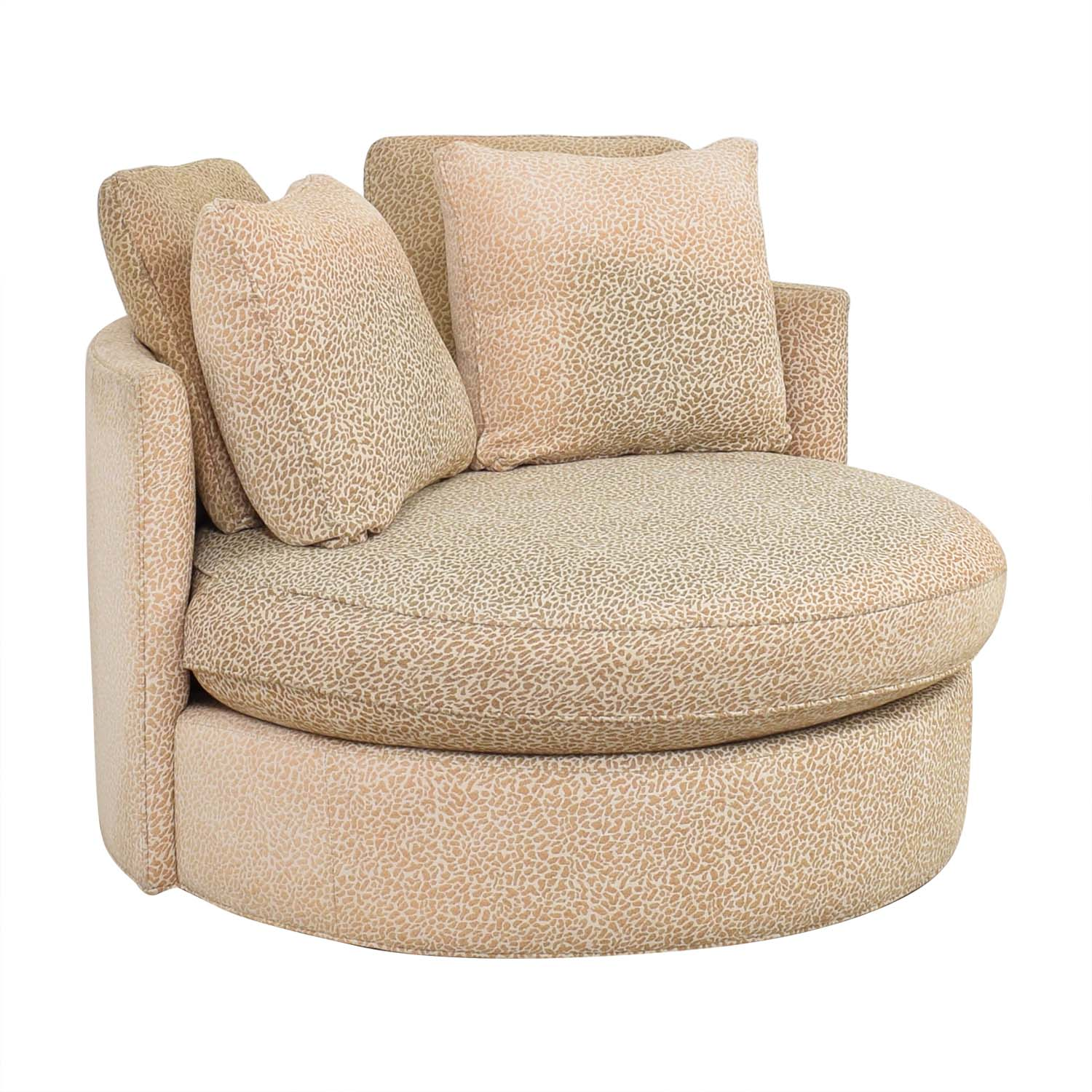 Macy's Circle Swivel Chair / Accent Chairs