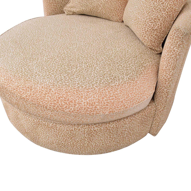 Macy's Macy's Circle Swivel Chair for sale