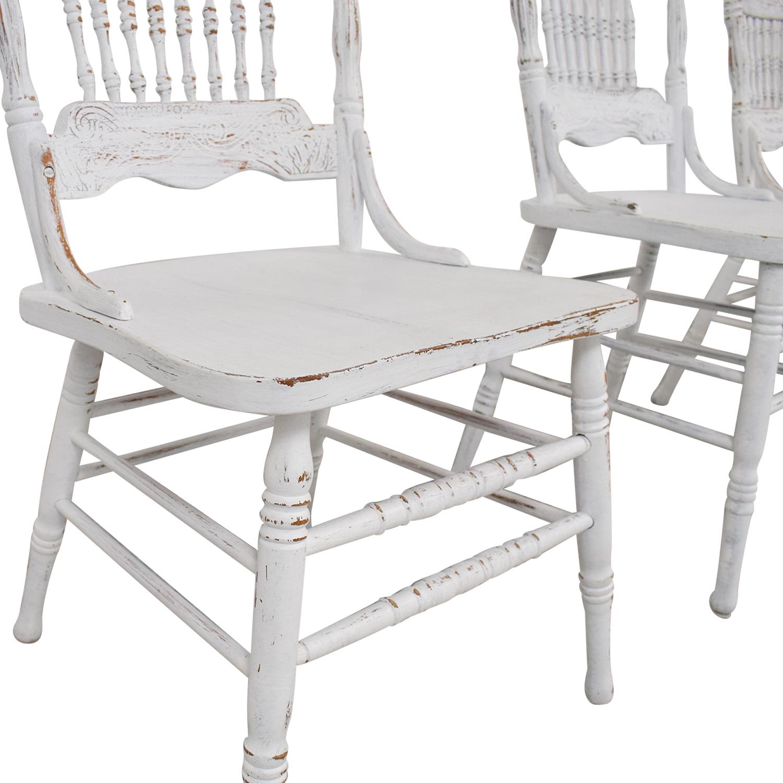 shop White Farmhouse Dining Chairs  Chairs