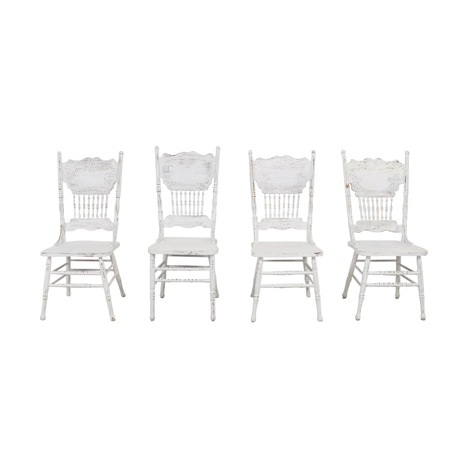White Farmhouse Dining Chairs used