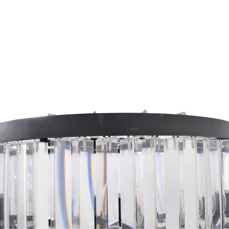 shop Restoration Hardware Welles Clear Crystal Floor Lamp Restoration Hardware Lamps