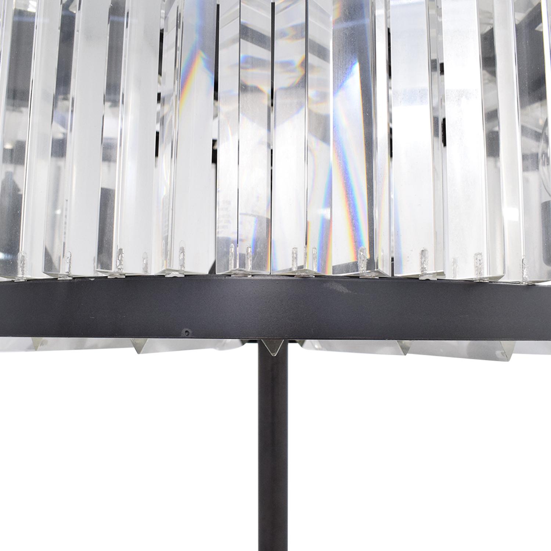 Restoration Hardware Restoration Hardware Welles Clear Crystal Floor Lamp Decor
