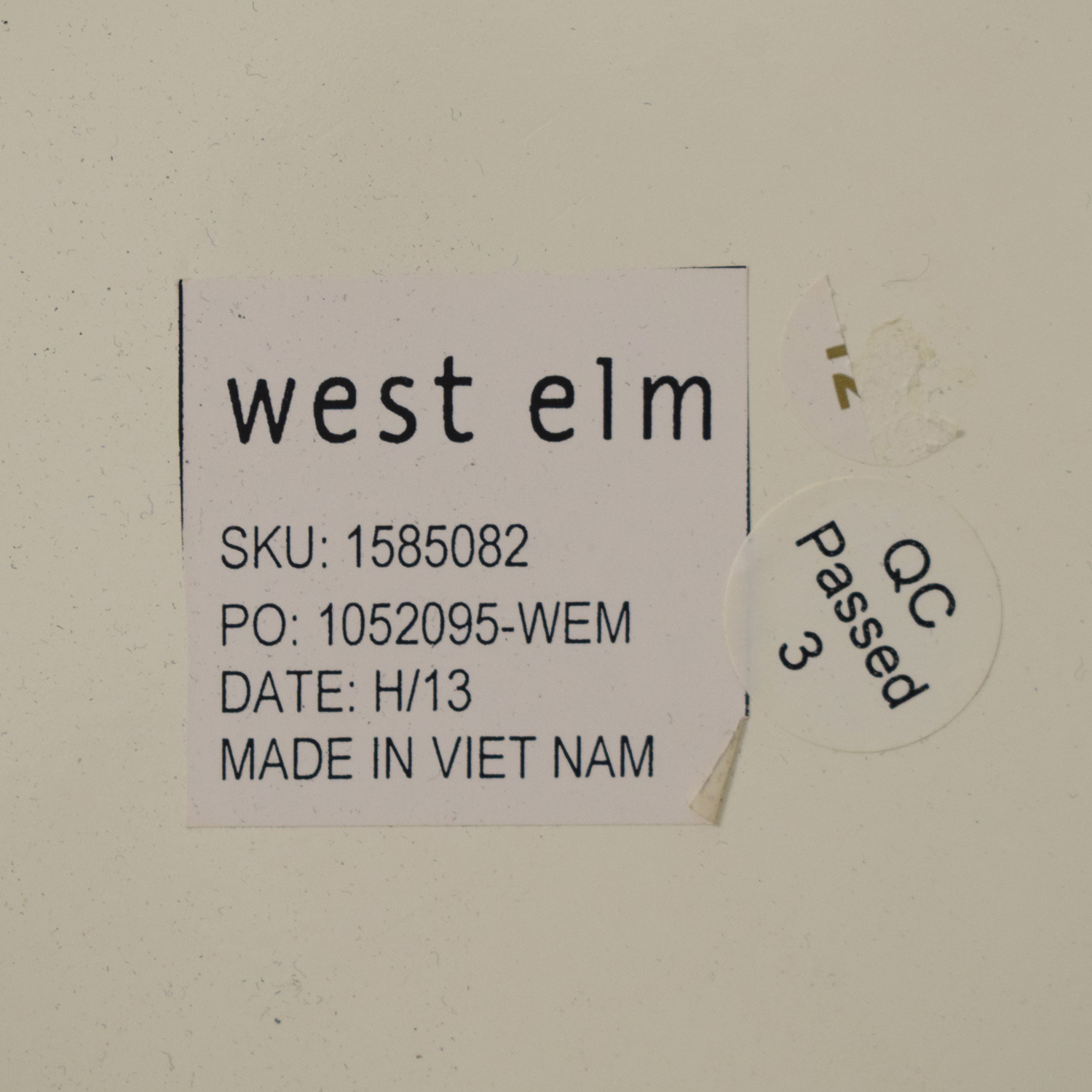 West Elm West Elm Parsons End Table dimensions