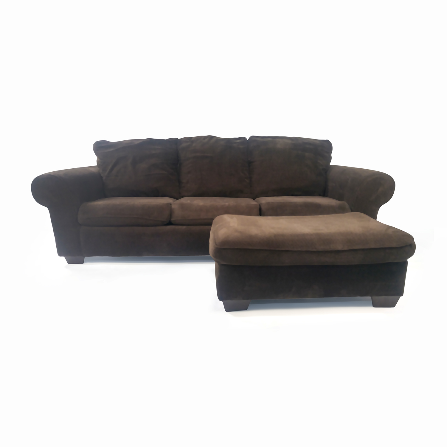 shop Plush Couch with Ottoman Custom Classic Sofas