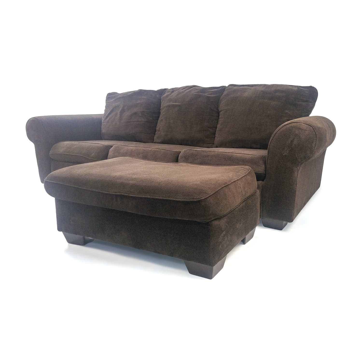 80 Off Custom Plush Couch With Ottoman Sofas