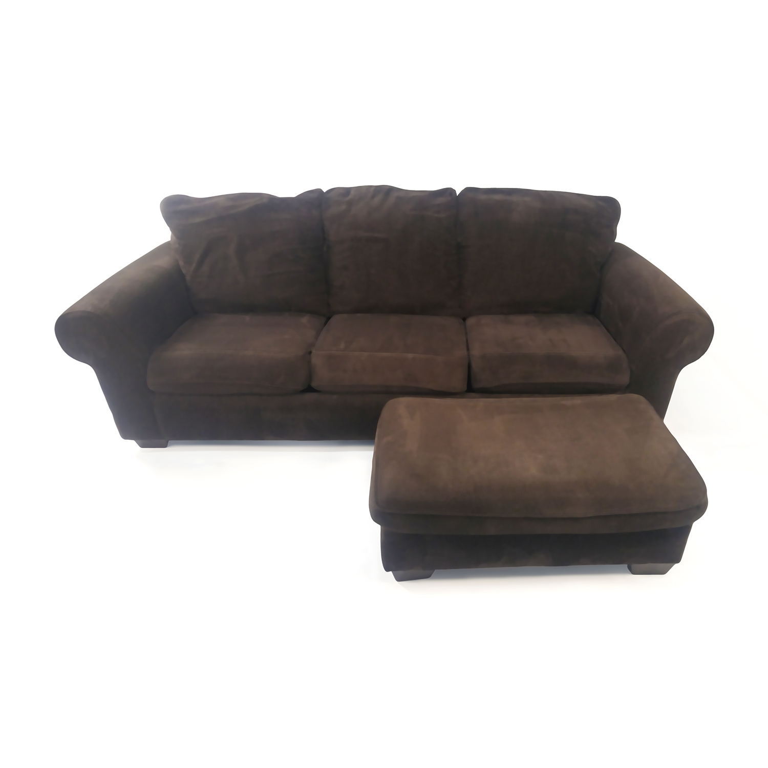 Custom Plush Couch with Ottoman nyc