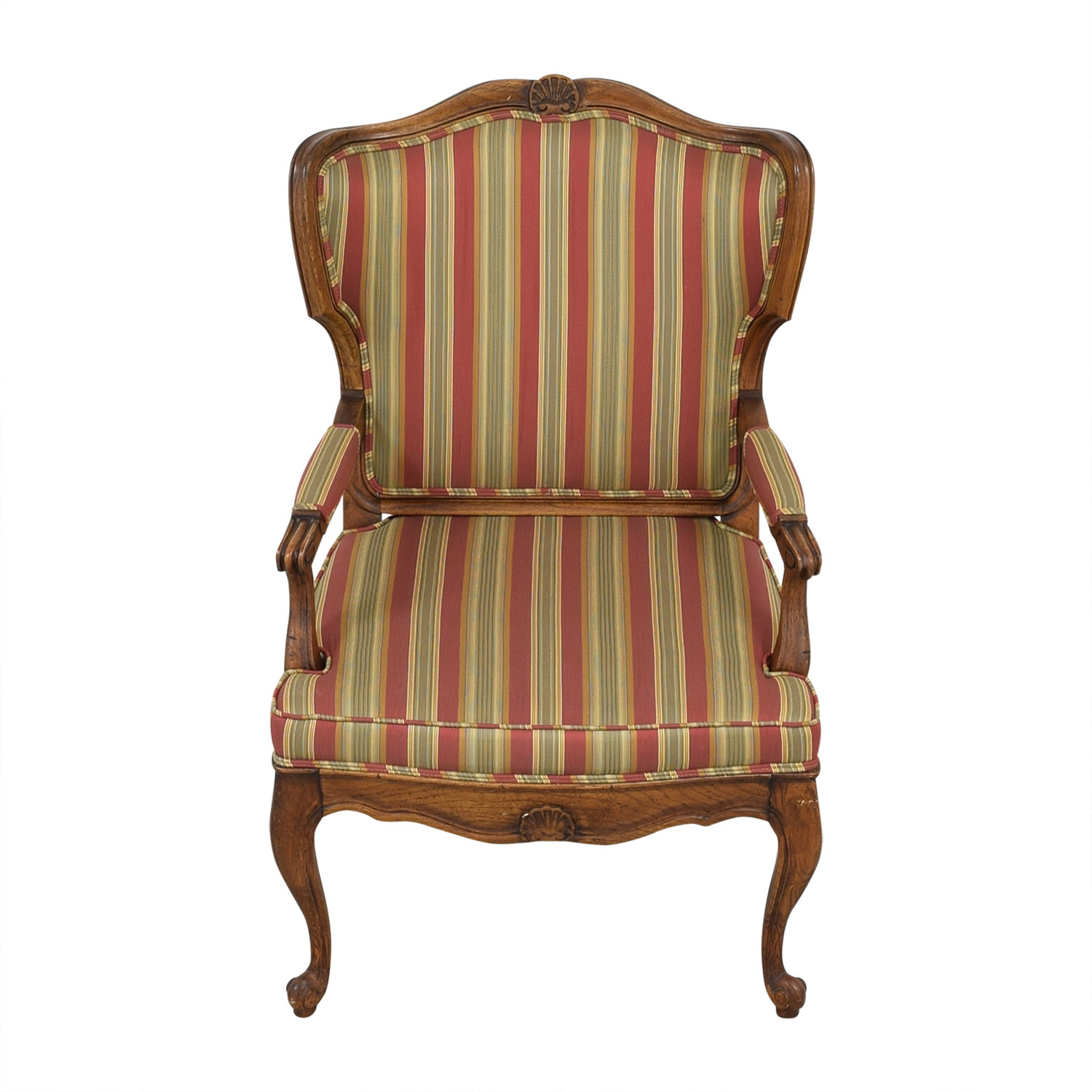 Upholstered French Style Armchair dimensions