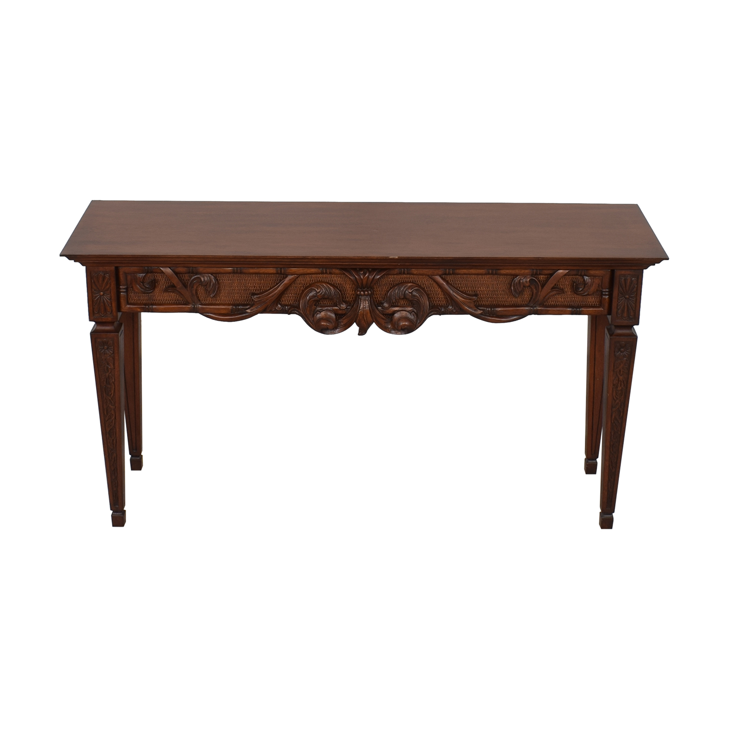 Ethan Allen Ethan Allen Carved Console Table second hand