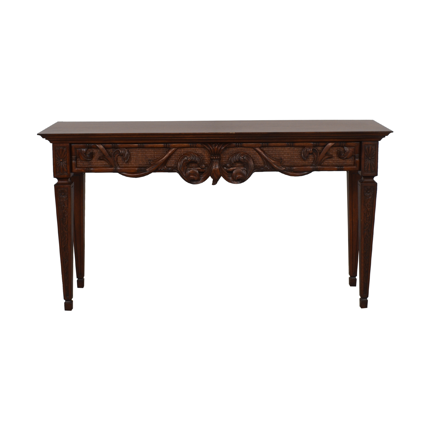 Ethan Allen Carved Console Table / Tables