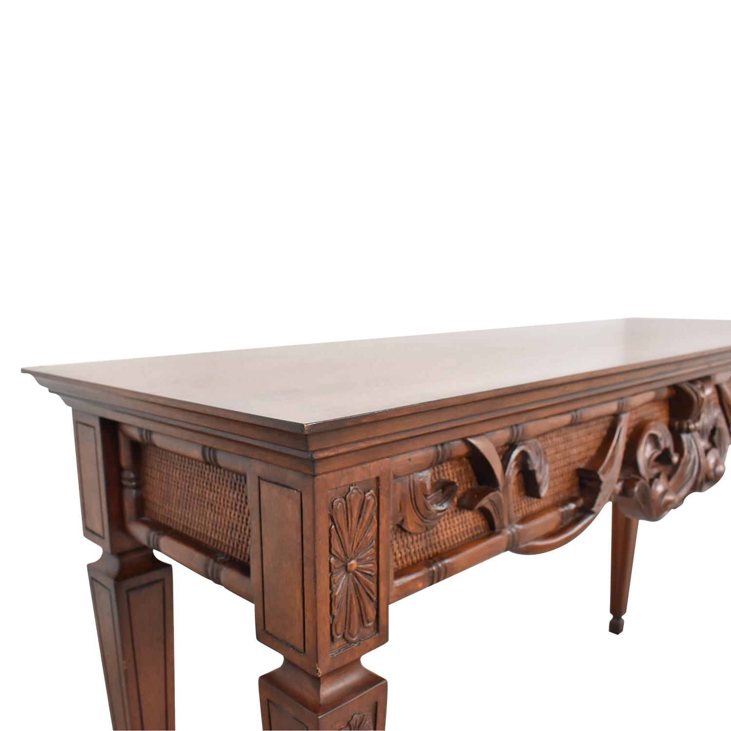 Ethan Allen Ethan Allen Carved Console Table on sale