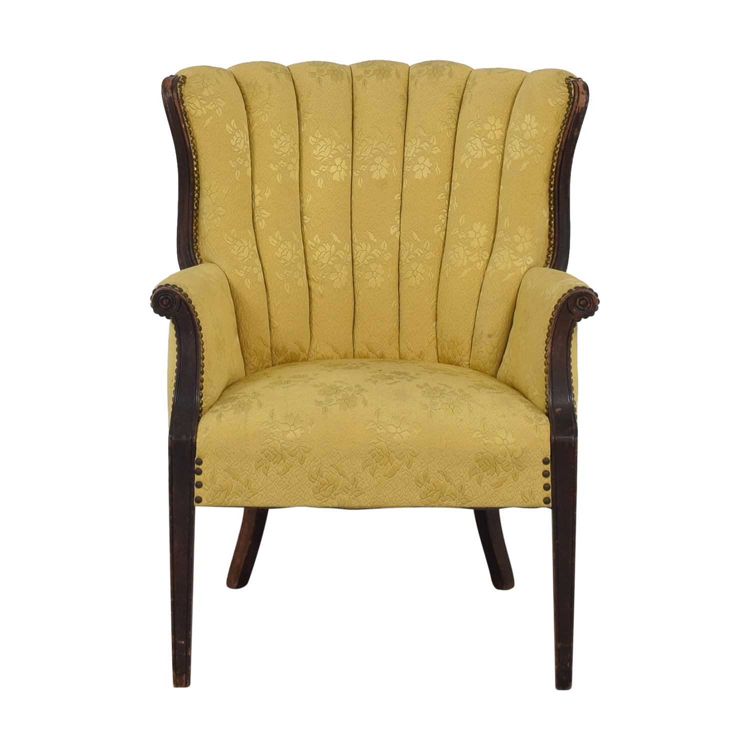 Vintage Custom Armchair dark yellow