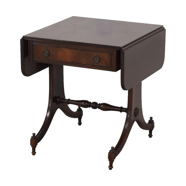 Vintage Drop Leaf Accent Table second hand
