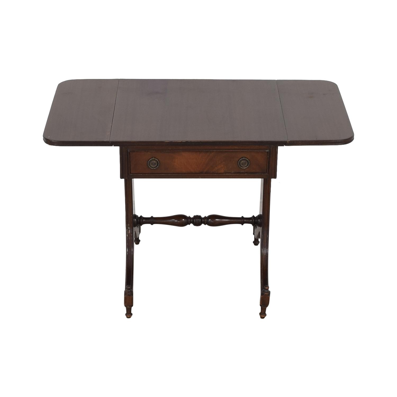 Vintage Drop Leaf Accent Table discount
