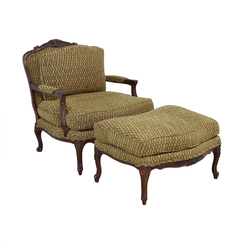 shop Vintage Henredon Chair with Ottoman Henredon Furniture