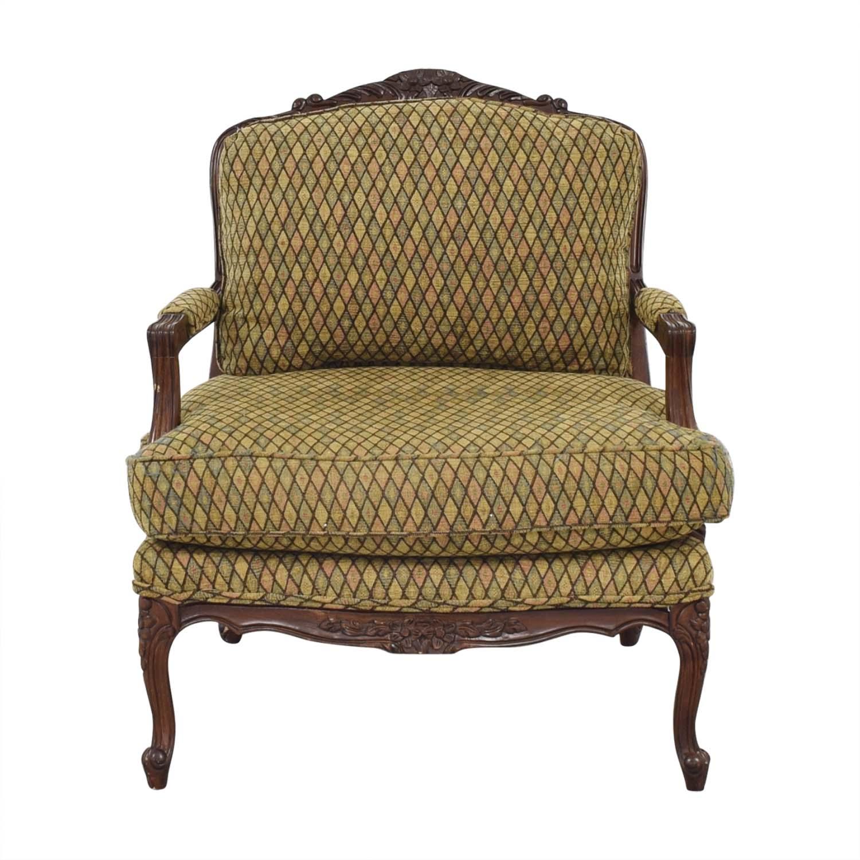 Henredon Furniture Vintage Henredon Chair with Ottoman multi colored