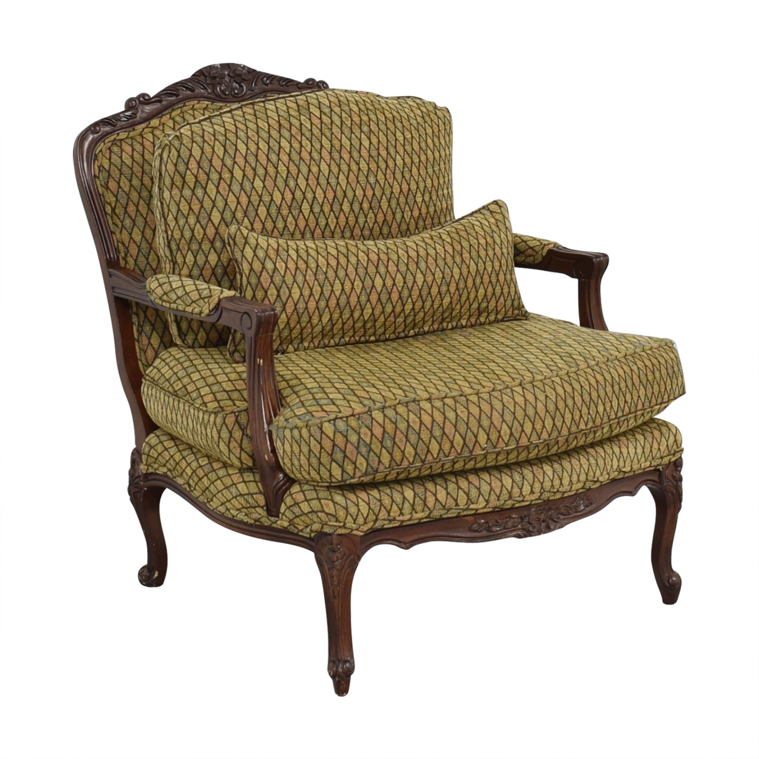 buy Vintage Henredon Chair with Ottoman Henredon Furniture Accent Chairs