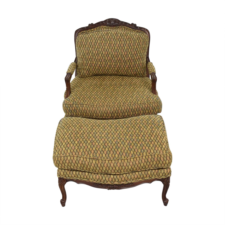 Henredon Furniture Vintage Henredon Chair with Ottoman dimensions