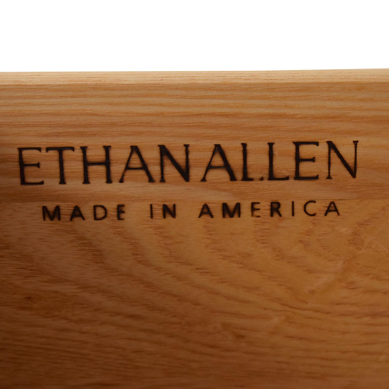 buy Ethan Allen Dresser with Top Cabinet Ethan Allen