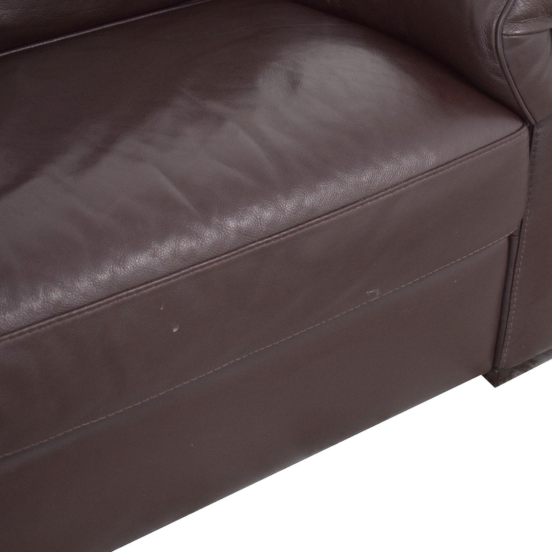 Natuzzi Natuzzi Two Cushion Pillow Arm Sofa discount