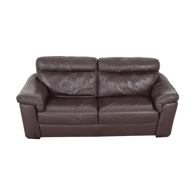 Natuzzi Two Cushion Pillow Arm Sofa / Sofas
