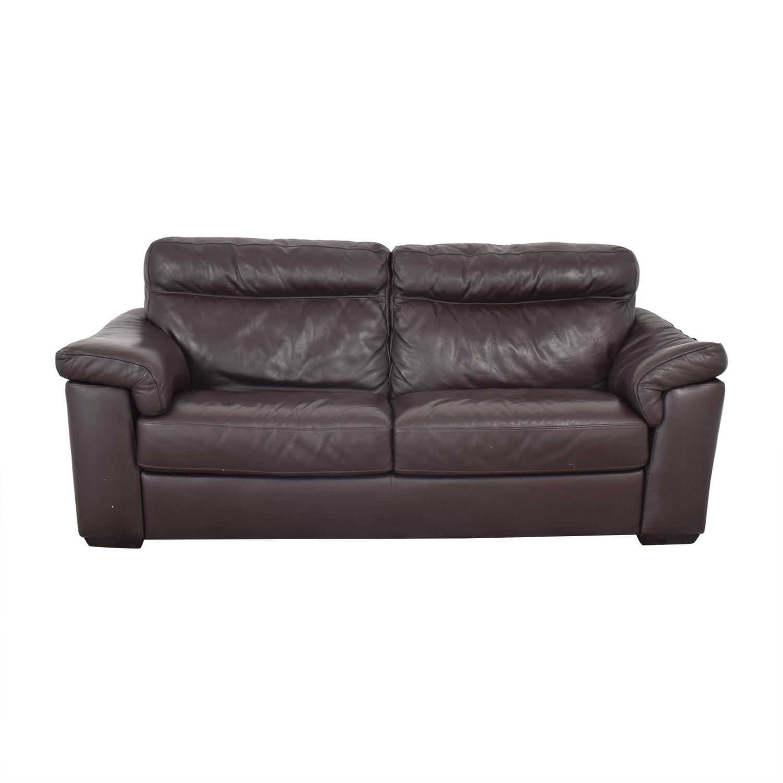 Natuzzi Two Cushion Pillow Arm Sofa / Classic Sofas
