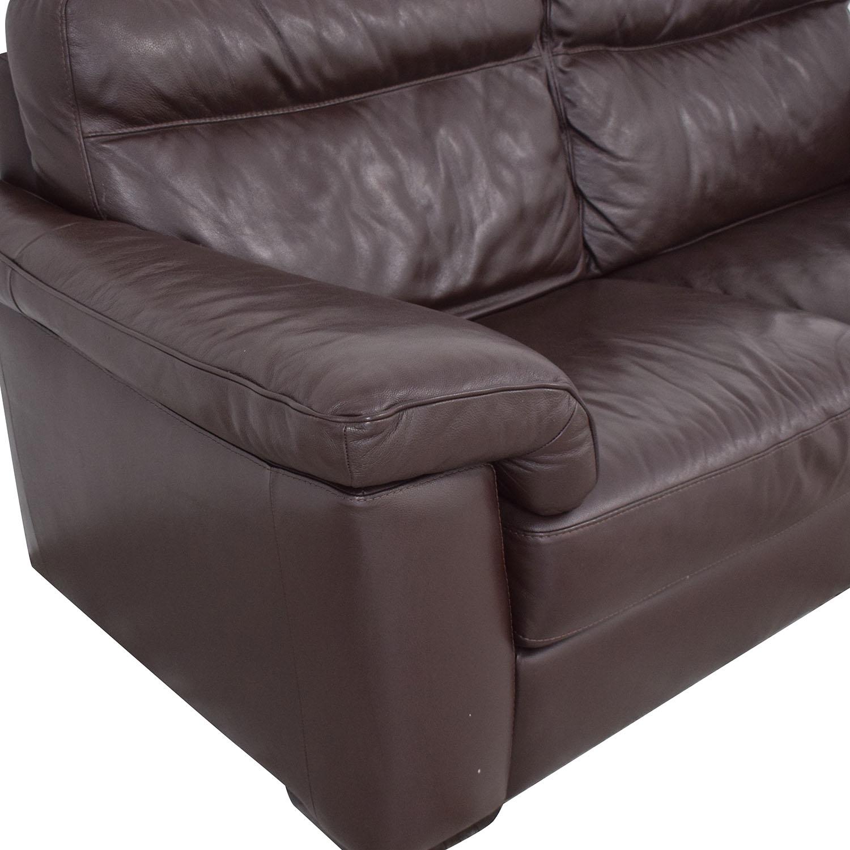 buy Natuzzi Two Cushion Pillow Arm Sofa Natuzzi Classic Sofas