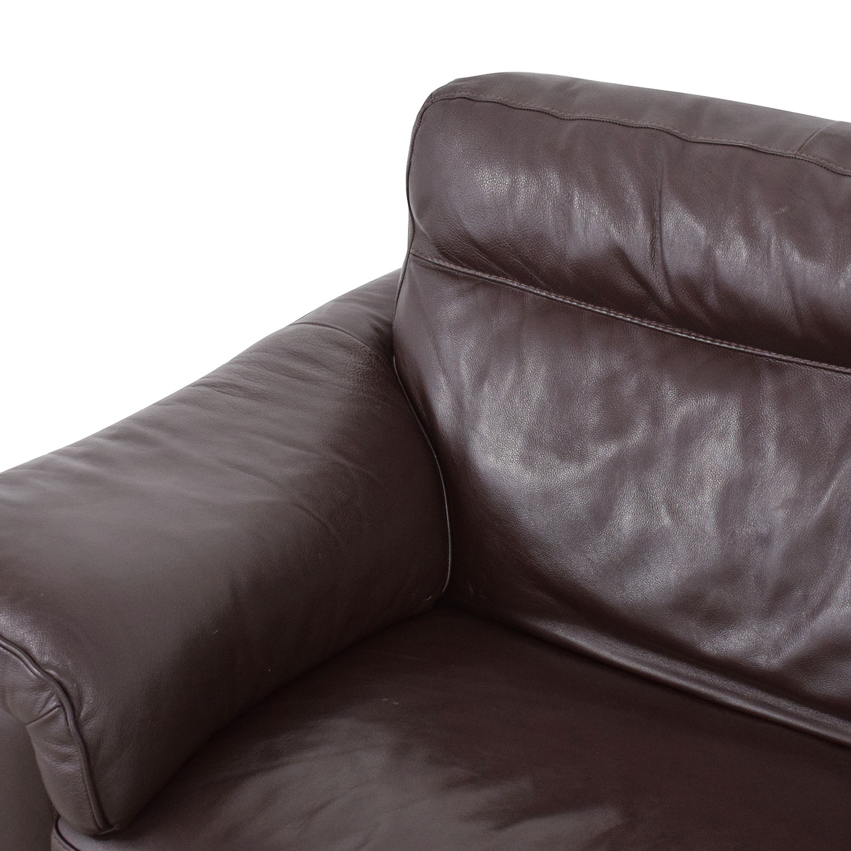 shop Natuzzi Two Cushion Pillow Arm Sofa Natuzzi Sofas