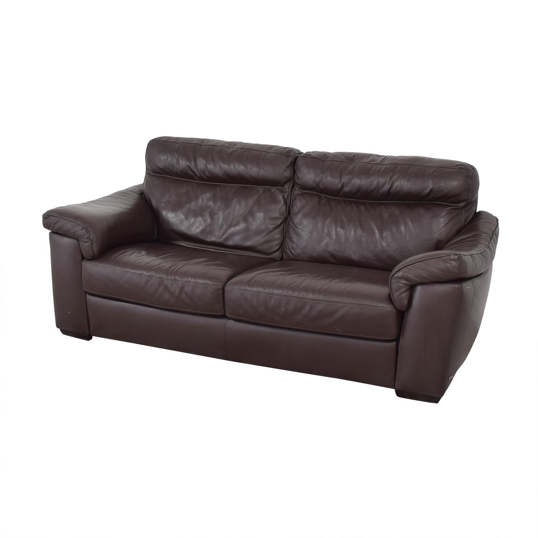shop Natuzzi Two Cushion Pillow Arm Sofa Natuzzi Classic Sofas
