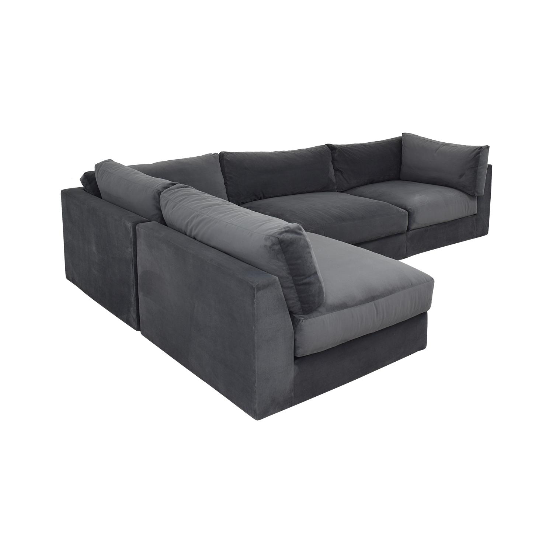 shop Macy's Aryanna 4-Piece Modular Sectional Sofa Macy's Sectionals