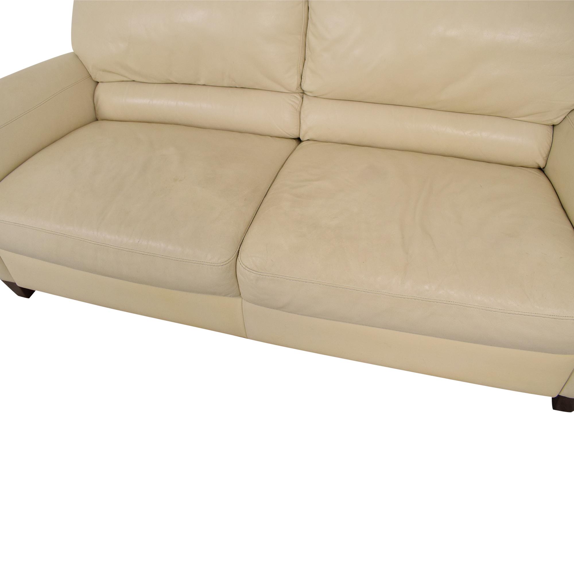 Macy's Macy's Italsofa Two Cushion Sofa Cream