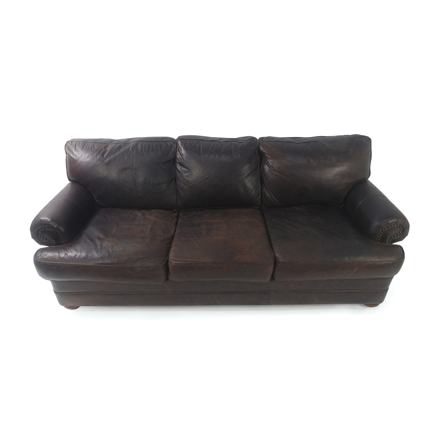Custom Brown Leather Couch Sofas