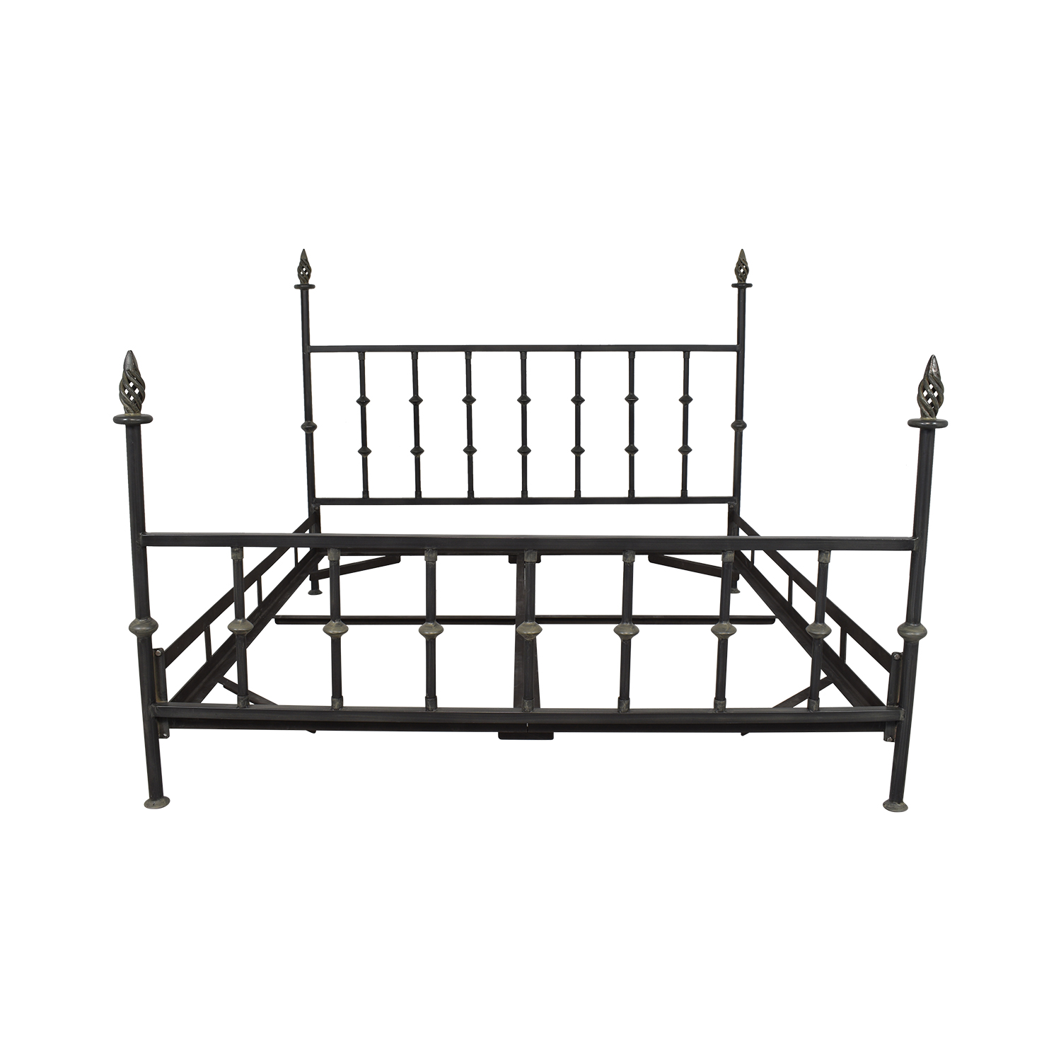 shop  King Bed Frame with Spiral Finials online