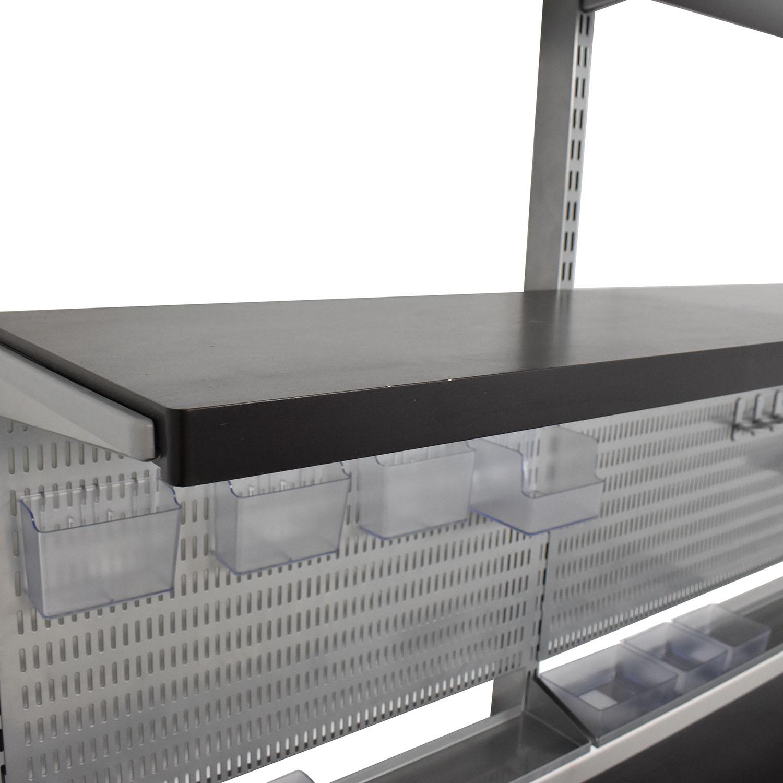 Elfa Elfa Wall Mounted Shelves and Desk ct