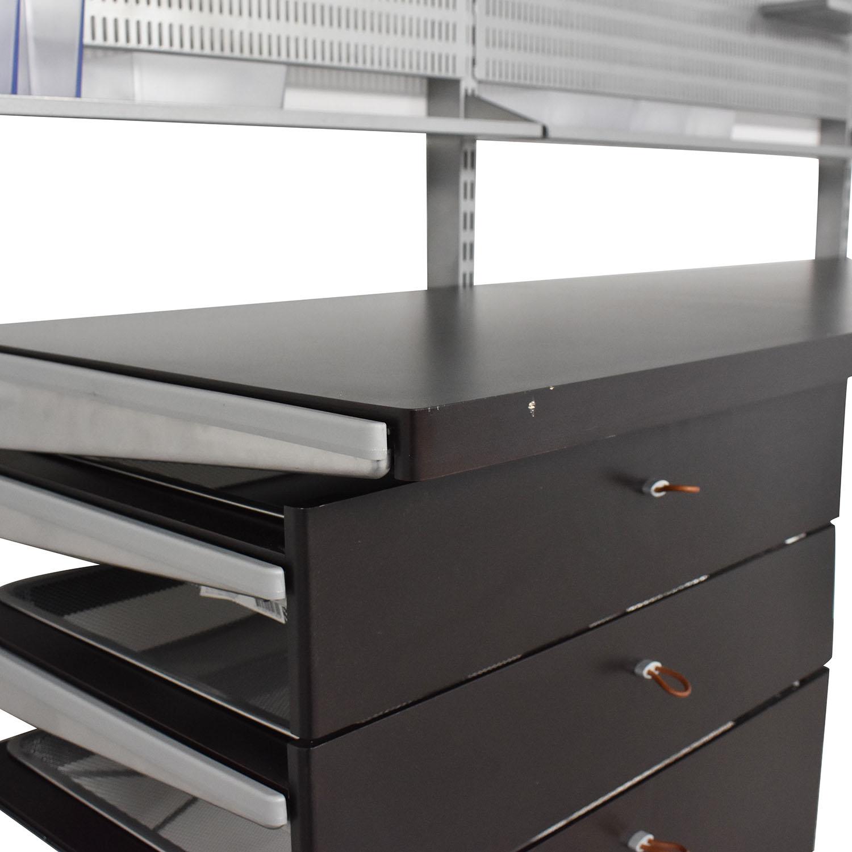 Elfa Elfa Wall Mounted Shelves and Desk nyc
