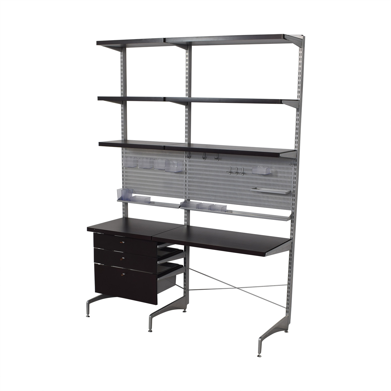 Elfa Elfa Wall Mounted Shelves and Desk second hand
