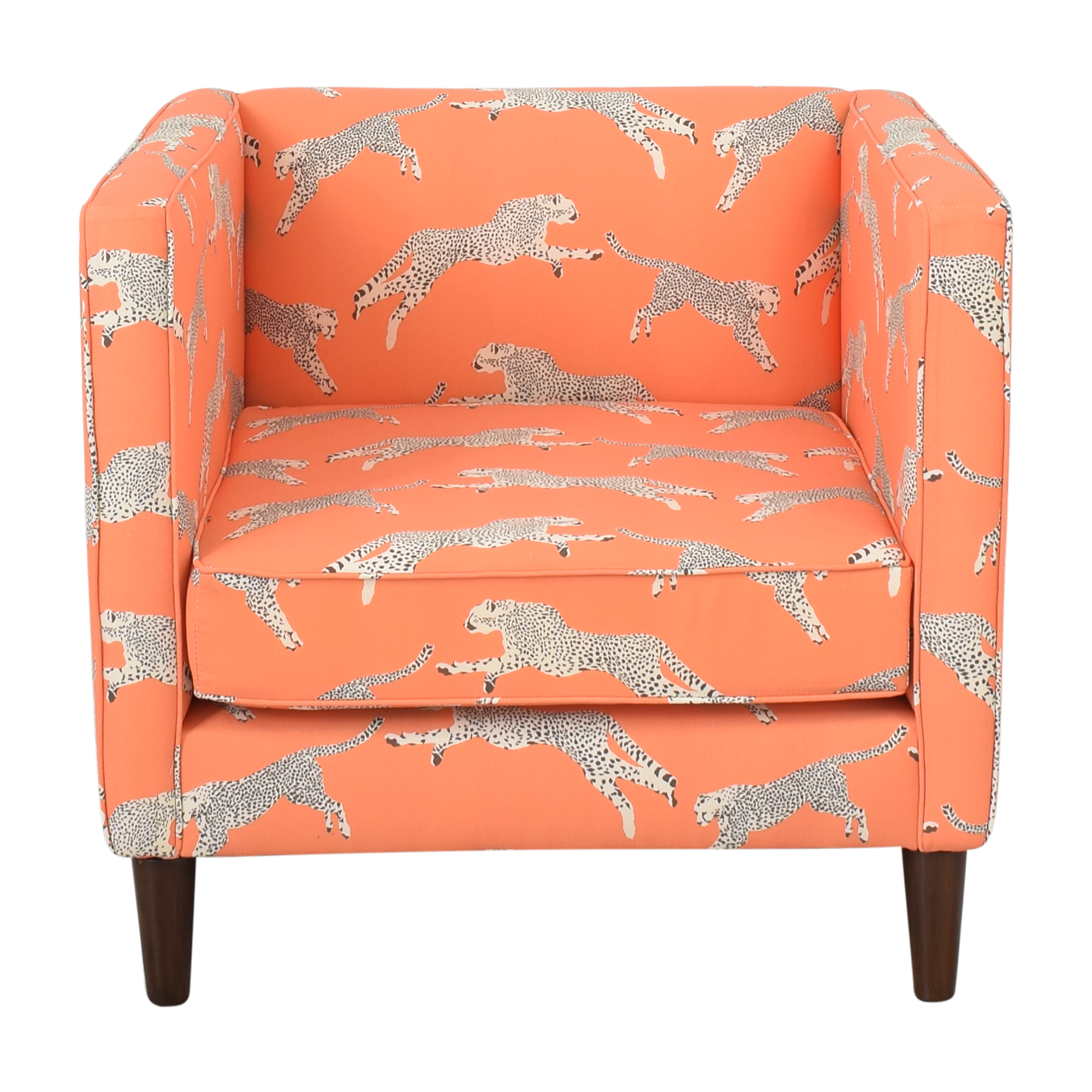 The Inside The Inside Tuxedo Chair in Coral Zebra by Scalamandre price