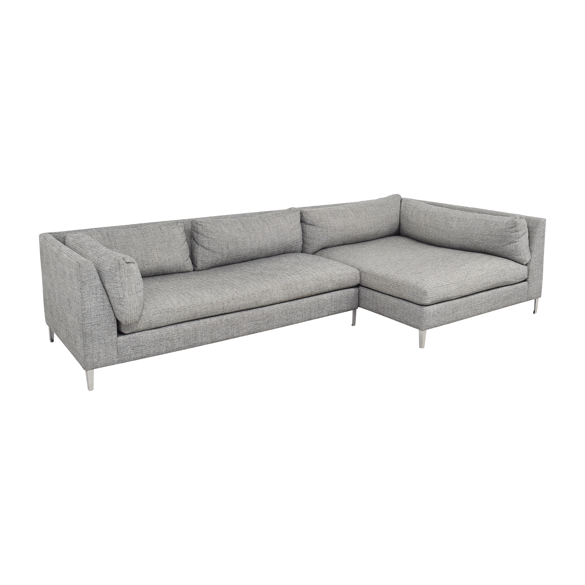 CB2 CB2 Decker Two- Piece Sectional Sofa second hand