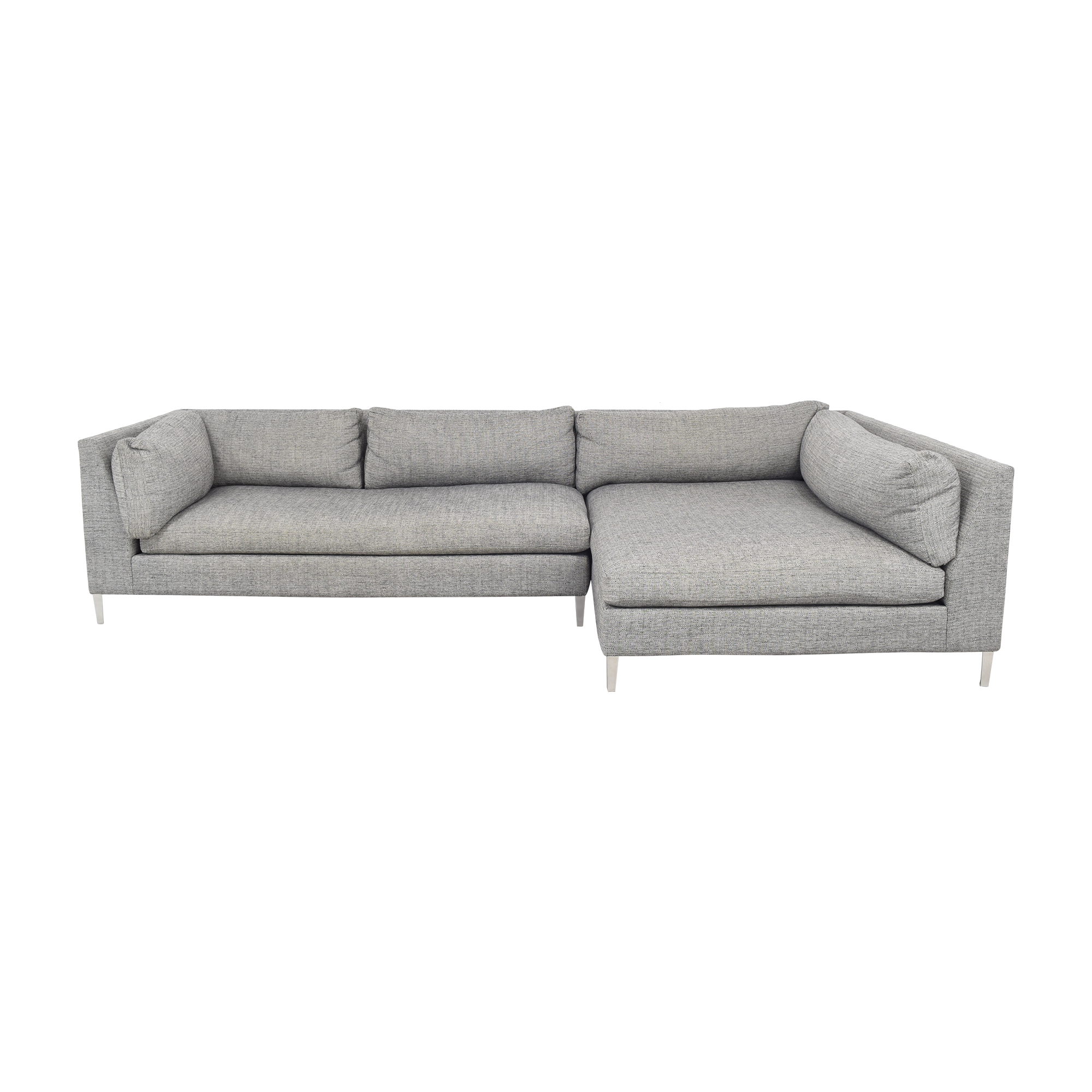 CB2 CB2 Decker Two- Piece Sectional Sofa dimensions