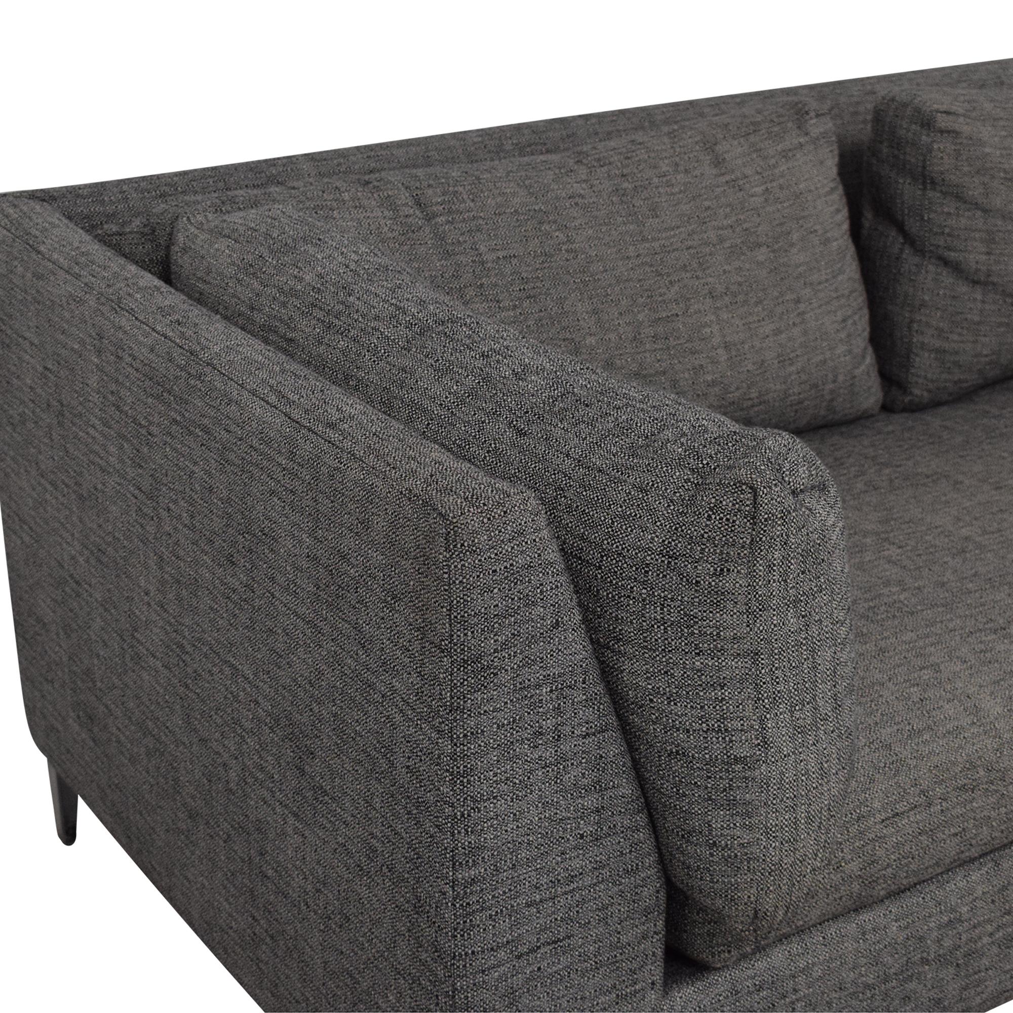 CB2 Decker Two- Piece Sectional Sofa sale