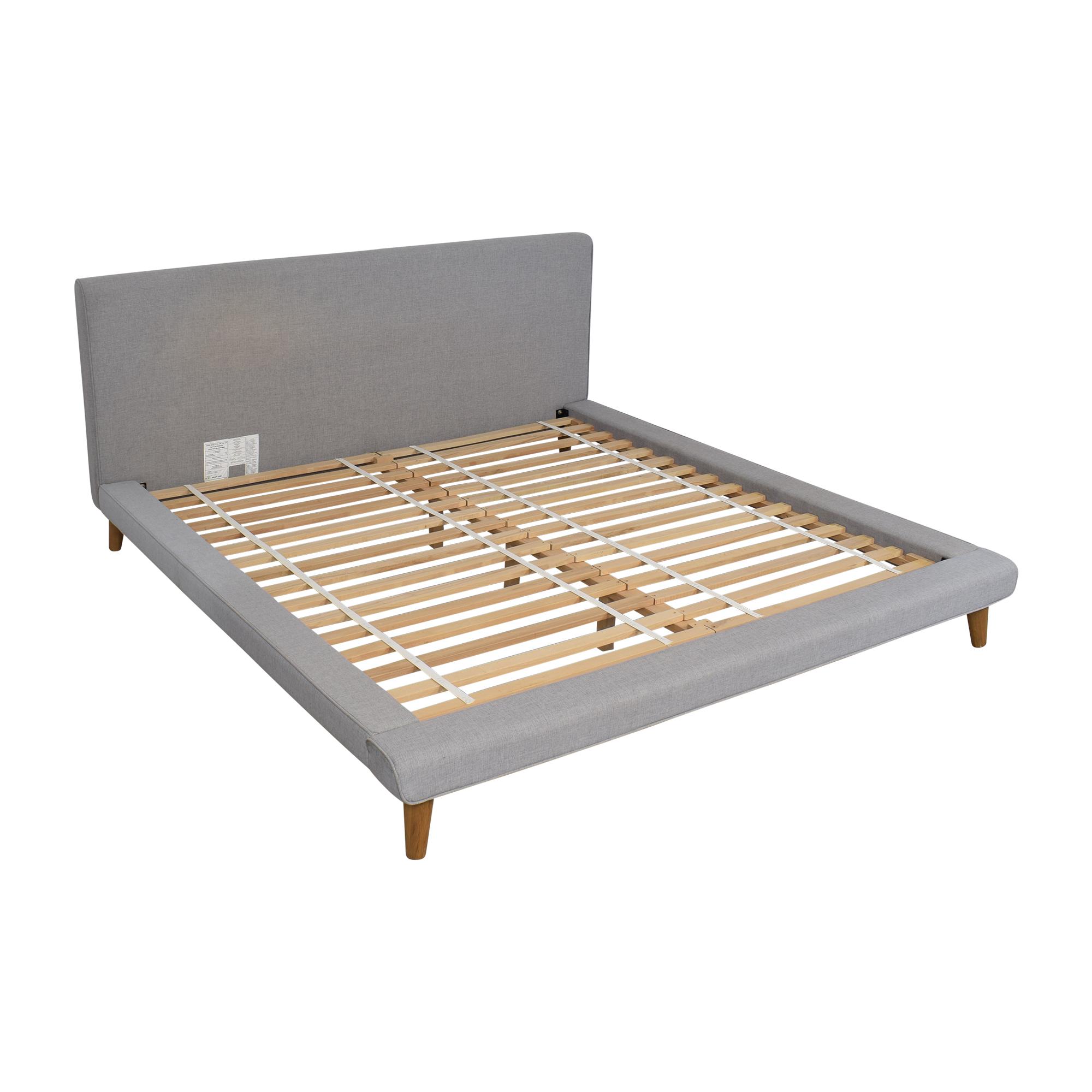 buy West Elm Mod Upholstered King Bed West Elm Bed Frames
