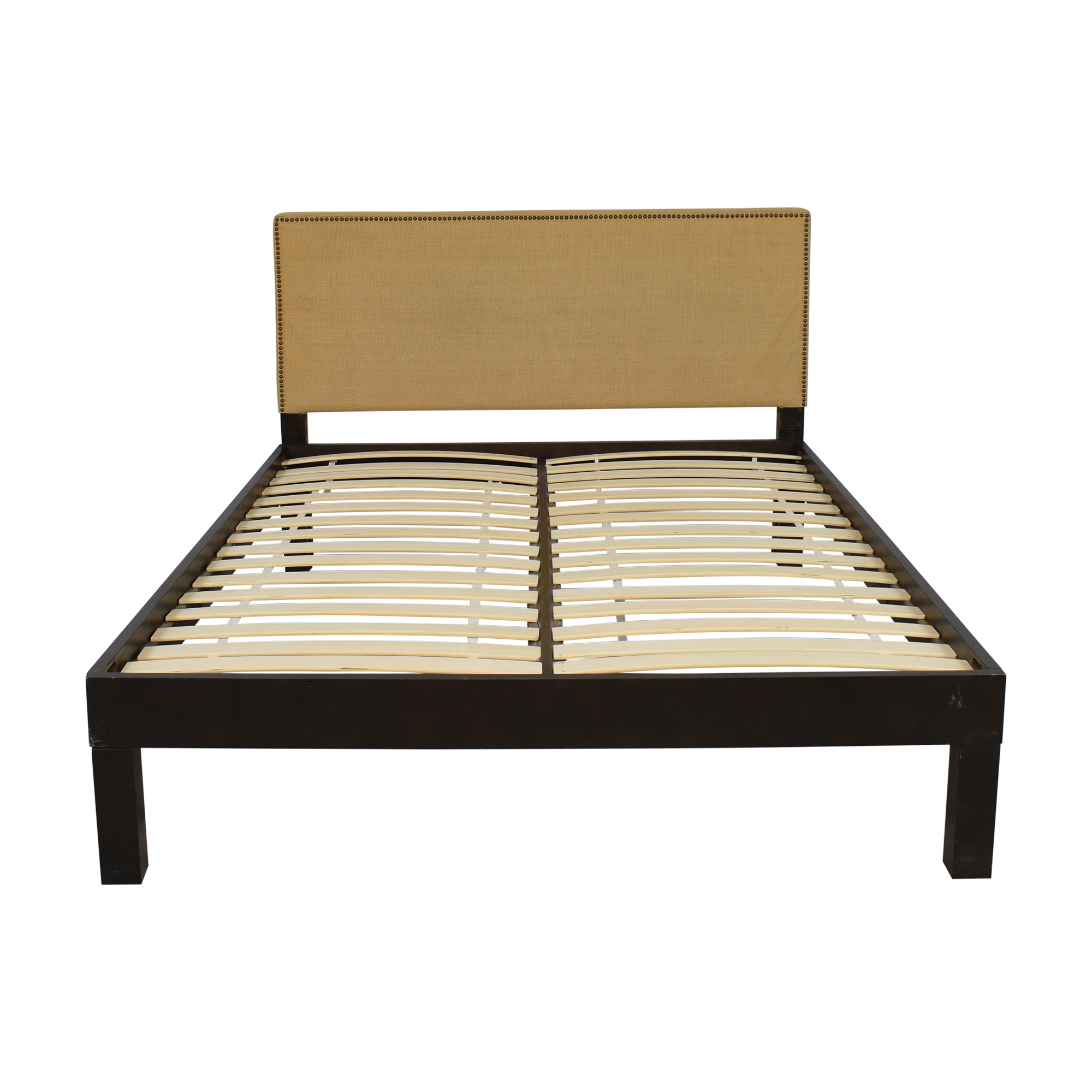 buy West Elm Nailhead Upholstered Queen Bed West Elm Bed Frames