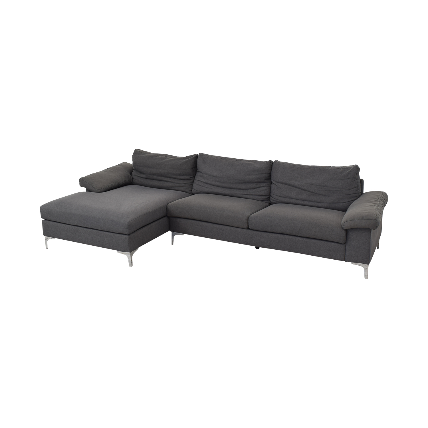 Ethan Allen Sectional Sofa with Chaise / Sofas